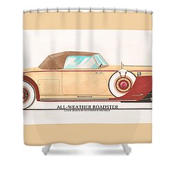 1932 Packard All Weather Roadster By Dietrich Concept Shower Curtain by Jack Pumphrey