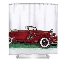 1933 Cadillac Convert Victoria Shower Curtain by Jack Pumphrey