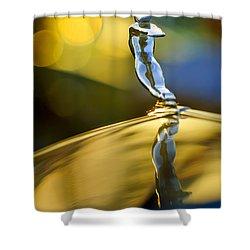 1936 Cadillac Hood Ornament Shower Curtain by Jill Reger