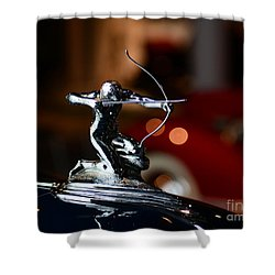 1936 Pierce Arrow Hood Ornament Shower Curtain by Paul Ward