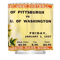 1937 Rose Bowl Ticket Shower Curtain by David Patterson