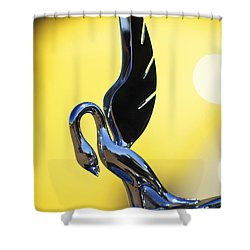 1939 Packard Hood Ornament Shower Curtain by Jill Reger