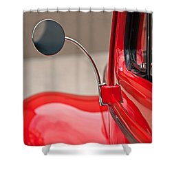 1940 Ford Deluxe Coupe Rear View Mirror Shower Curtain by Jill Reger