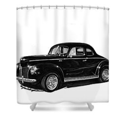 1940 Ford Restro Rod Shower Curtain by Jack Pumphrey