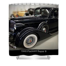 1940 Packard Super 8 Shower Curtain by Chris Flees