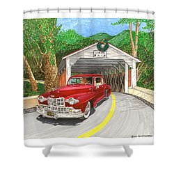 1946 Lincoln Continental Shower Curtain by Jack Pumphrey
