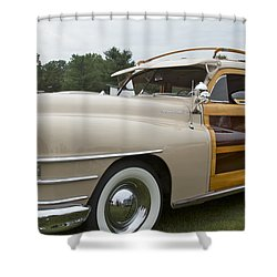 1947 Chrysler Shower Curtain by Jack R Perry