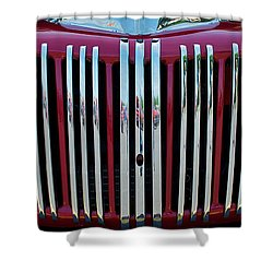 1947 Ford Truck Grill Shower Curtain by Mark Dodd