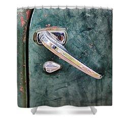 1950 Classic Chevy Pickup Door Handle Shower Curtain by Adam Romanowicz
