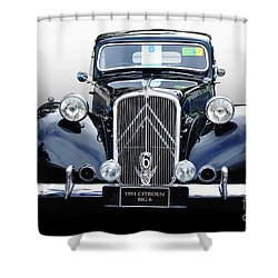 1951 Citroen Big 6 Shower Curtain by Kaye Menner