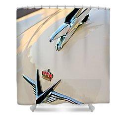 1953 Chrysler Imperial Custom Hood Ornament Shower Curtain by Jill Reger