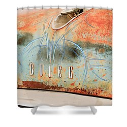 1954 Buick Special Hood Ornament Shower Curtain by Jill Reger