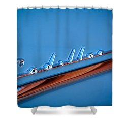 1954 Cadillac Emblem Shower Curtain by Jill Reger