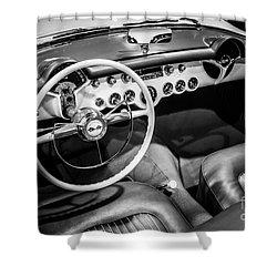 1954 Chevrolet Corvette Interior Shower Curtain by Paul Velgos