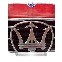 1954 Maserati A6 Gcs Emblem Shower Curtain by Jill Reger