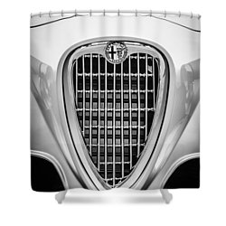 1955 Alfa Romeo 1900 Css Ghia Aigle Cabriolet Grille Emblem -0564bw Shower Curtain by Jill Reger