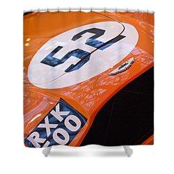 1955 Aston Martin Db3s Sports Racing Car Hood Shower Curtain by Jill Reger