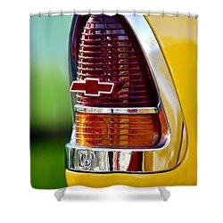 1955 Chevrolet Taillight Emblem Shower Curtain by Jill Reger