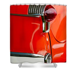 1955 Oldsmobile Taillight Shower Curtain by Jill Reger