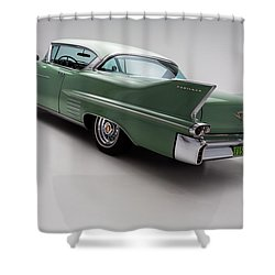 1958 Cadillac Deville Shower Curtain by Gianfranco Weiss