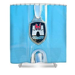 1960 Volkswagen Vw Hood Emblem 2 Shower Curtain by Jill Reger