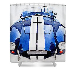 1962 Ac Cobra Shelby Watercolor Shower Curtain by Naxart Studio