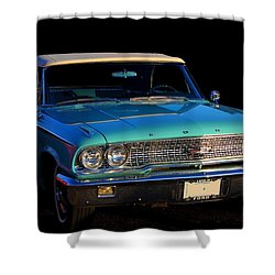 1963 Ford Galaxy Shower Curtain by Davandra Cribbie
