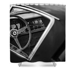1967 Ferrari 275 Gtb-4 Berlinetta Steering Wheel Shower Curtain by Jill Reger