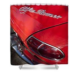 1969 Alfa Romeo 1750 Spider Taillight Emblem Shower Curtain by Jill Reger