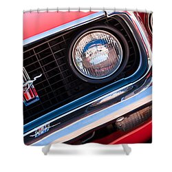 1969 Ford Mustang Boss 429 Grille Emblem Shower Curtain by Jill Reger