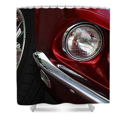 1969 Ford Mustang Mach 1 Front Shower Curtain by Jill Reger