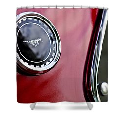 1969 Ford Mustang Mach 1 Shower Curtain by Jill Reger