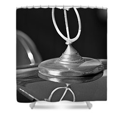 1984 Excalibur Roadster Hood Ornament 2 Shower Curtain by Jill Reger