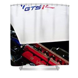 1998 Dodge Viper Gts-r Engine Shower Curtain by Jill Reger