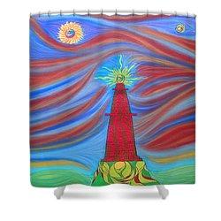 1kin Shower Curtain by Robert Nickologianis