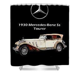 1930 Mercedes Benz Ss Tourer Shower Curtain by Jack Pumphrey