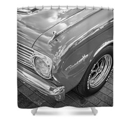 1963 Ford Falcon Sprint Convertible Bw  Shower Curtain by Rich Franco