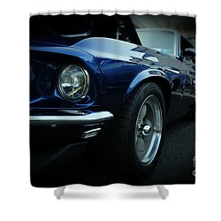 1969 Ford Mustang Mach 1 Fastback Shower Curtain by Paul Ward