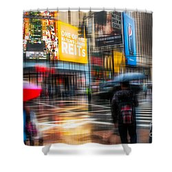 A Rainy Day In New York Shower Curtain by Hannes Cmarits