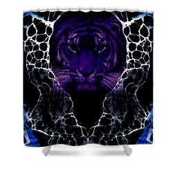 Abstract 65 Shower Curtain by J D Owen