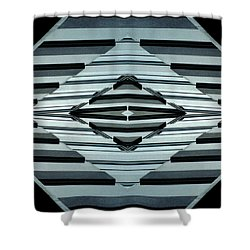 Abstract Buildings 6 Shower Curtain by J D Owen