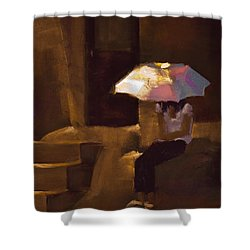 Adobe Sun Shower Curtain by David Patterson