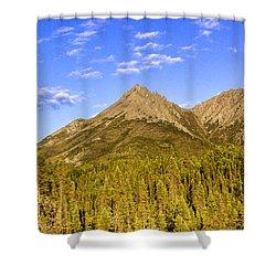 Alaska Mountains Shower Curtain by Chad Dutson
