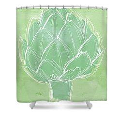 Artichoke Shower Curtain by Linda Woods
