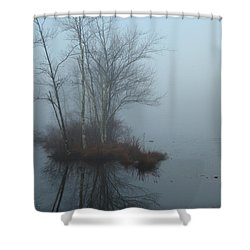As The Fog Lifts Shower Curtain by Karol Livote