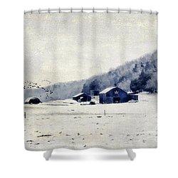 Back Roads Of Kentucky Shower Curtain by Darren Fisher