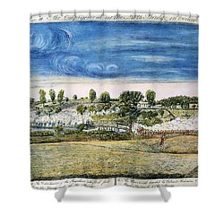 Battle Of Concord, 1775 Shower Curtain by Granger