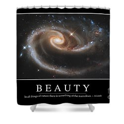 Beauty Inspirational Quote Shower Curtain by Stocktrek Images