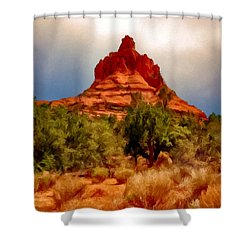 Bell Rock Vortex Painting Shower Curtain by Bob and Nadine Johnston