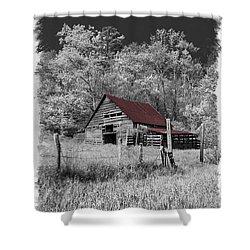 Big Red Shower Curtain by Debra and Dave Vanderlaan